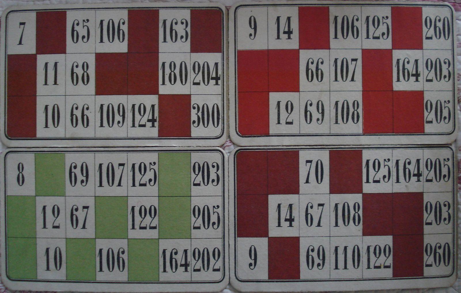 le nombre 13 ne figure sur aucun des neuf cartons ( ici jeu NK)