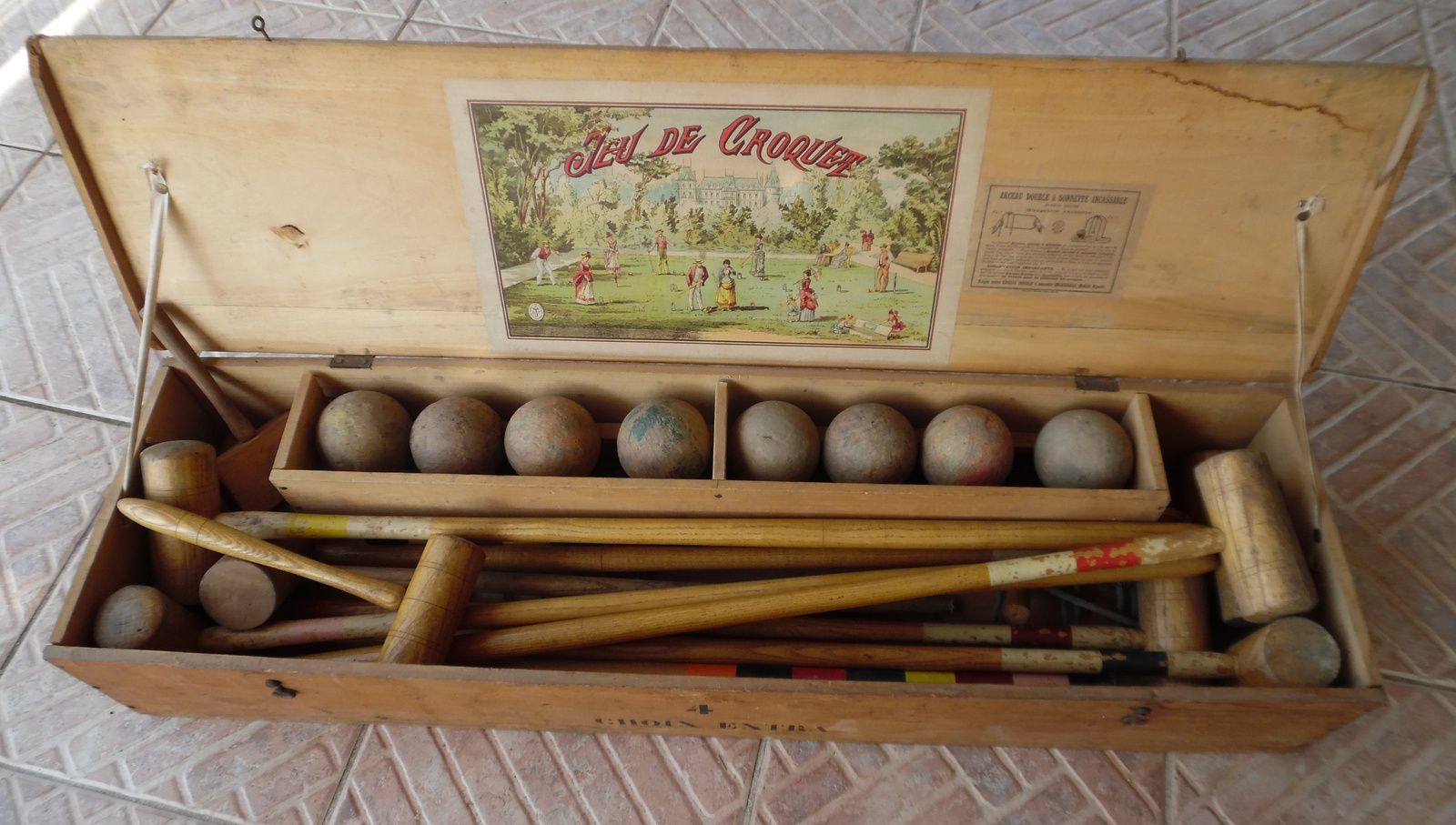 Jeu croquet bois for Salon du bois paris