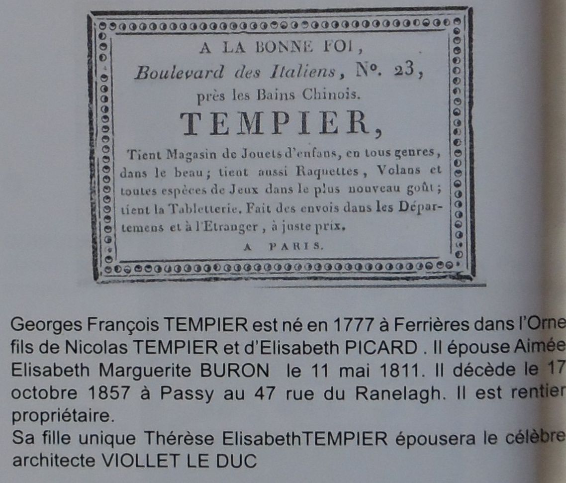 ( extrait du catalogue Theimer  vente du 22/09/2007 )