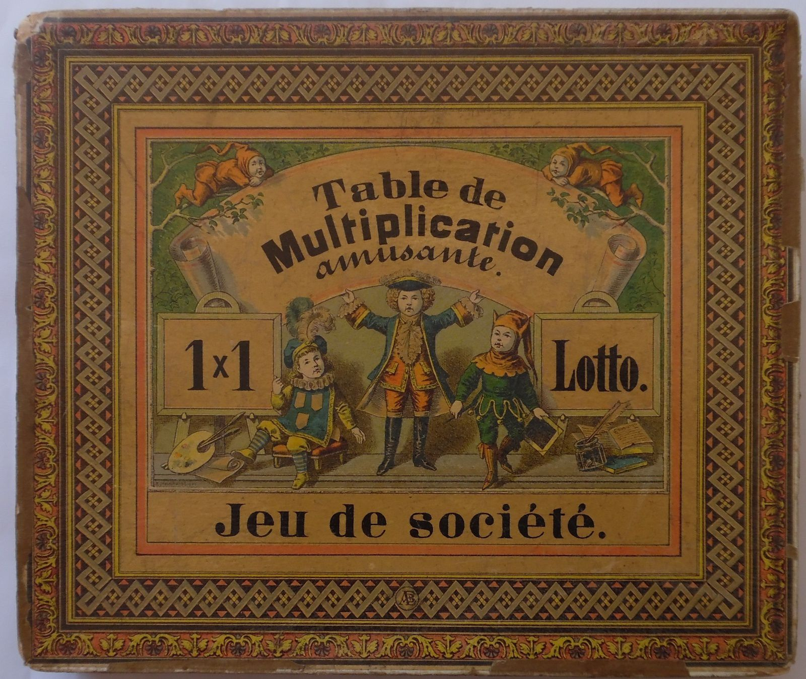 table de multiplication amusante, jeu de loto
