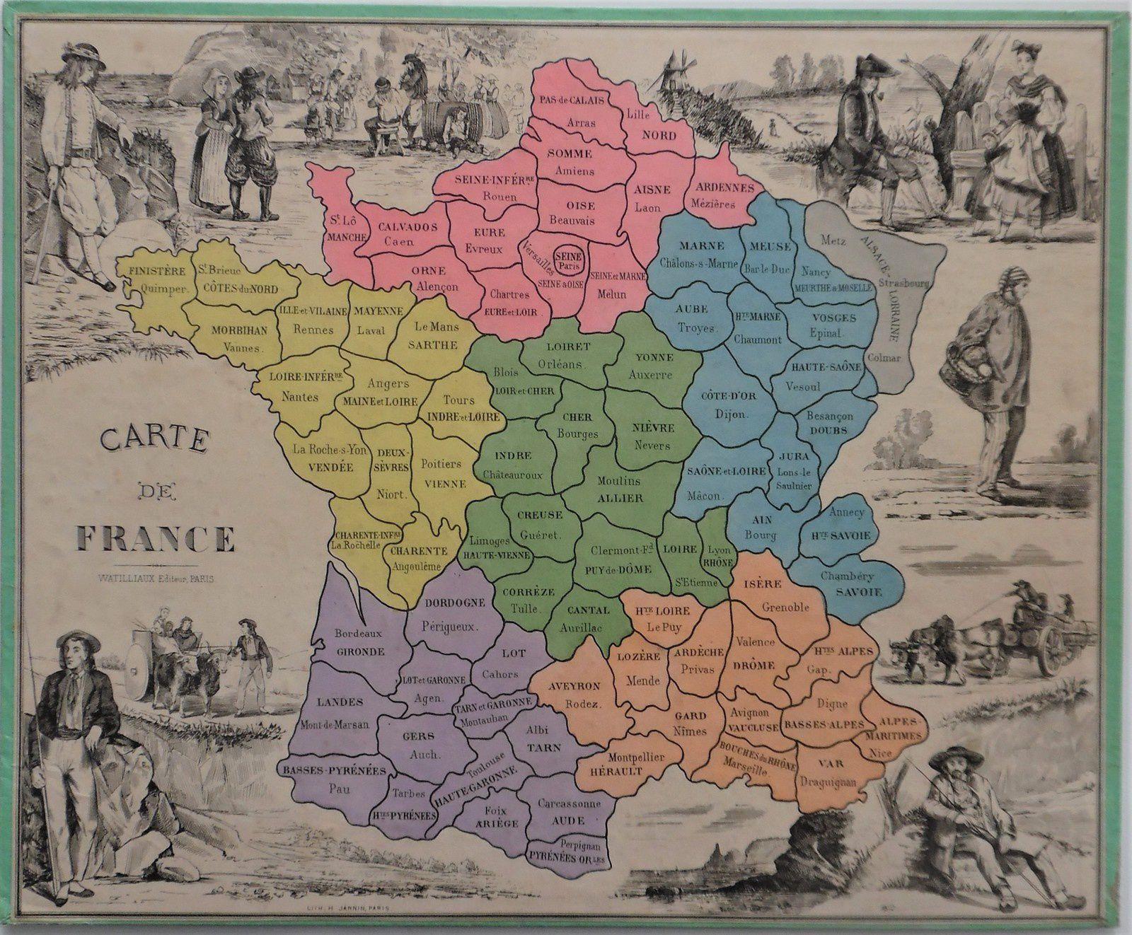 la France en départements découpés se met au loto...