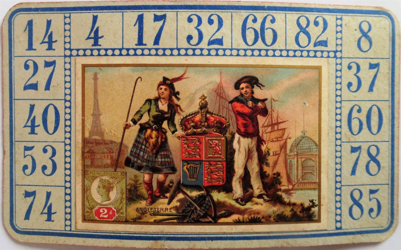 loto des timbres et costumes des pays du monde par AWGL