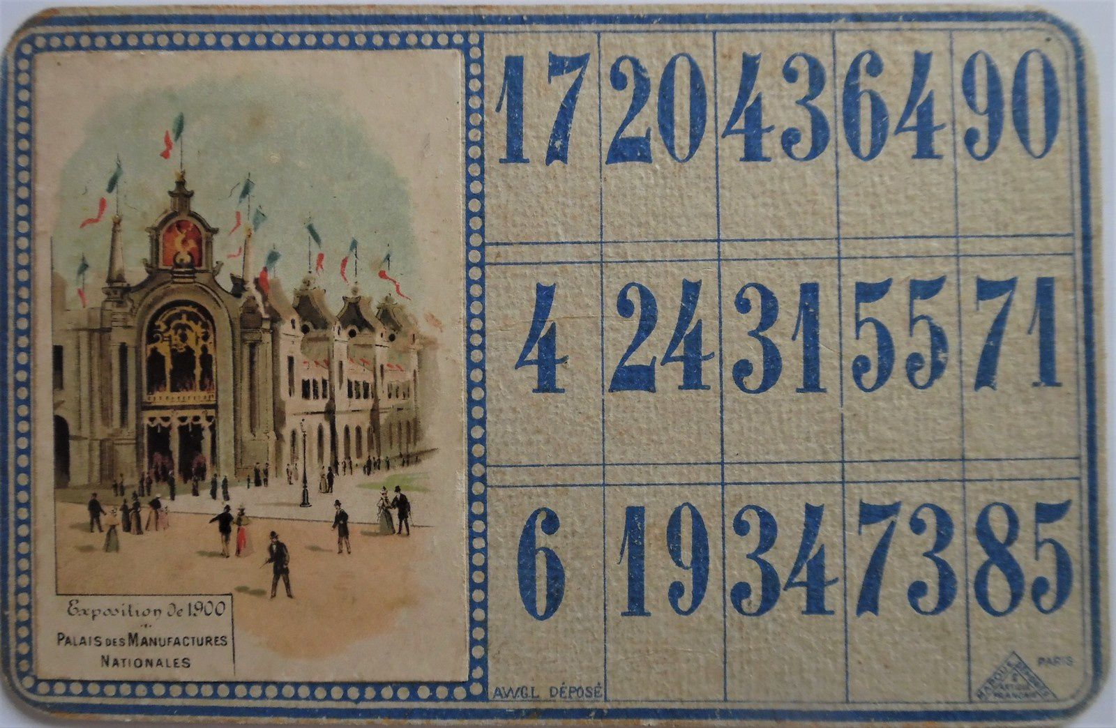 loto AWGL exposition internationale de 1900