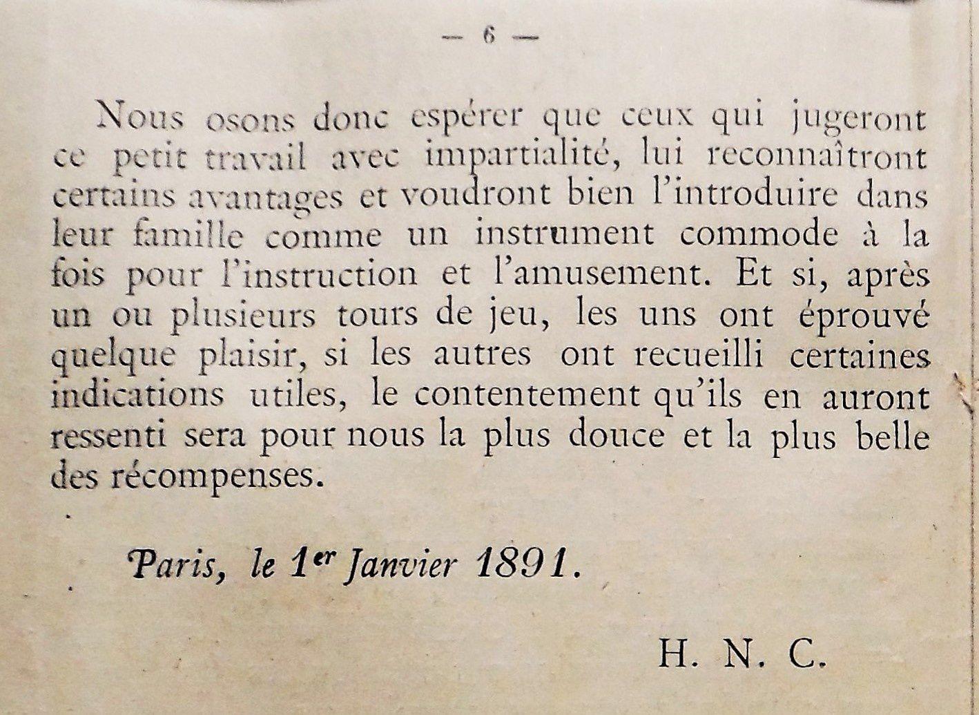 extrait de la notice,édition de 1891
