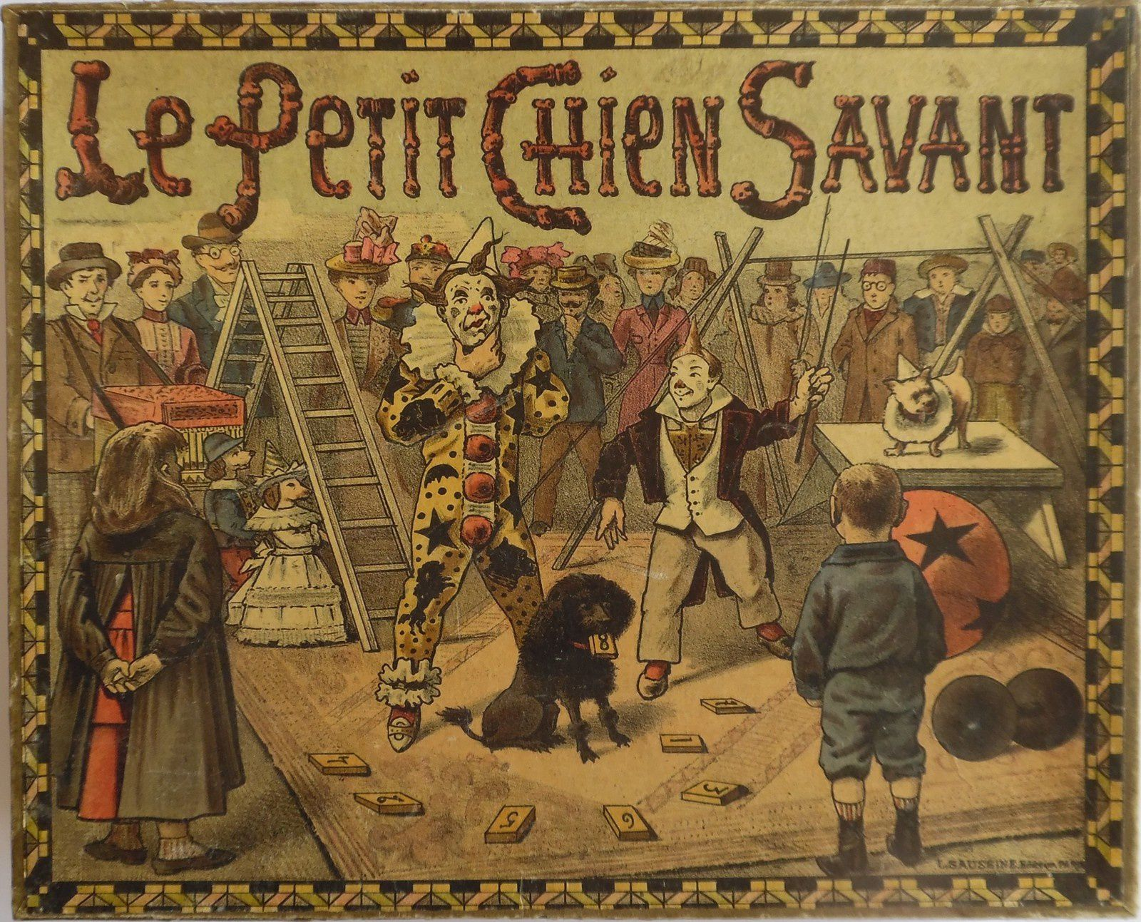 le petit chien savant, jeu de Léon Saussine (1910?)