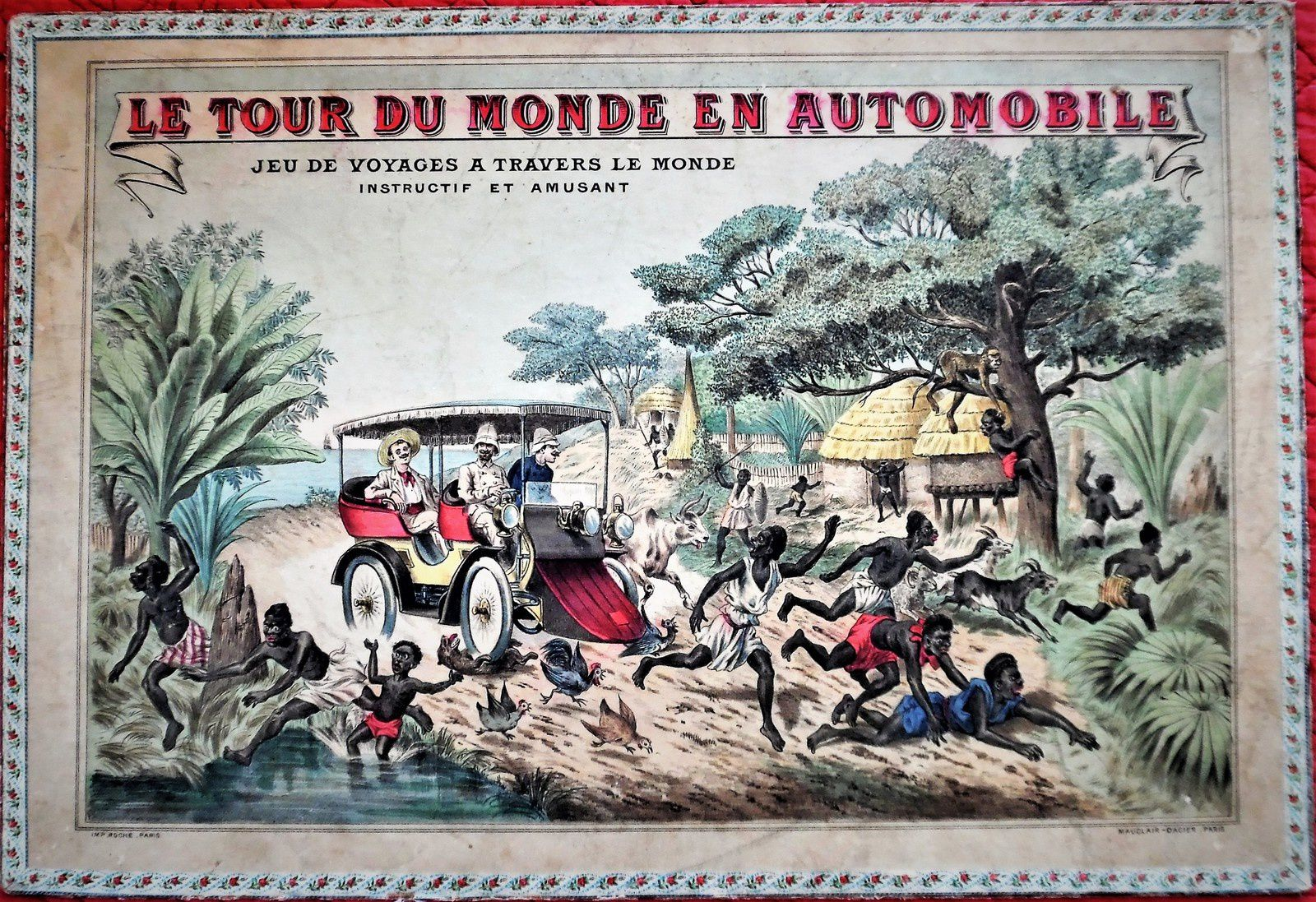 le tour du monde en automobile, jeu de MD