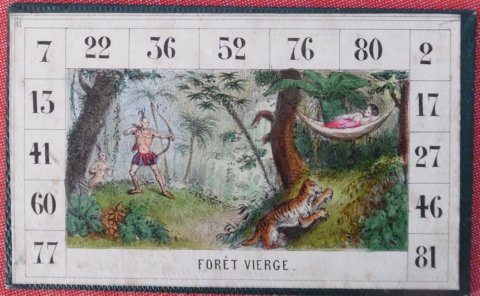 une scène inattendue dans la forêt vierge, loto géographique de Rousseau