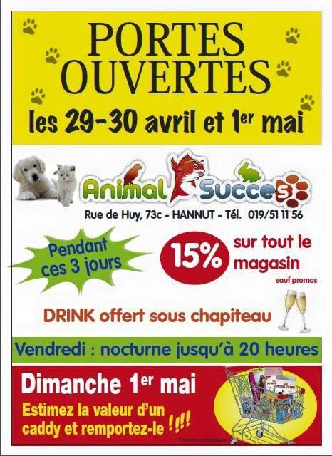 """ANIMAL SUCCES"" HANNUT: portes ouvertes les 29, 30 avril & 01 Mai (New)"