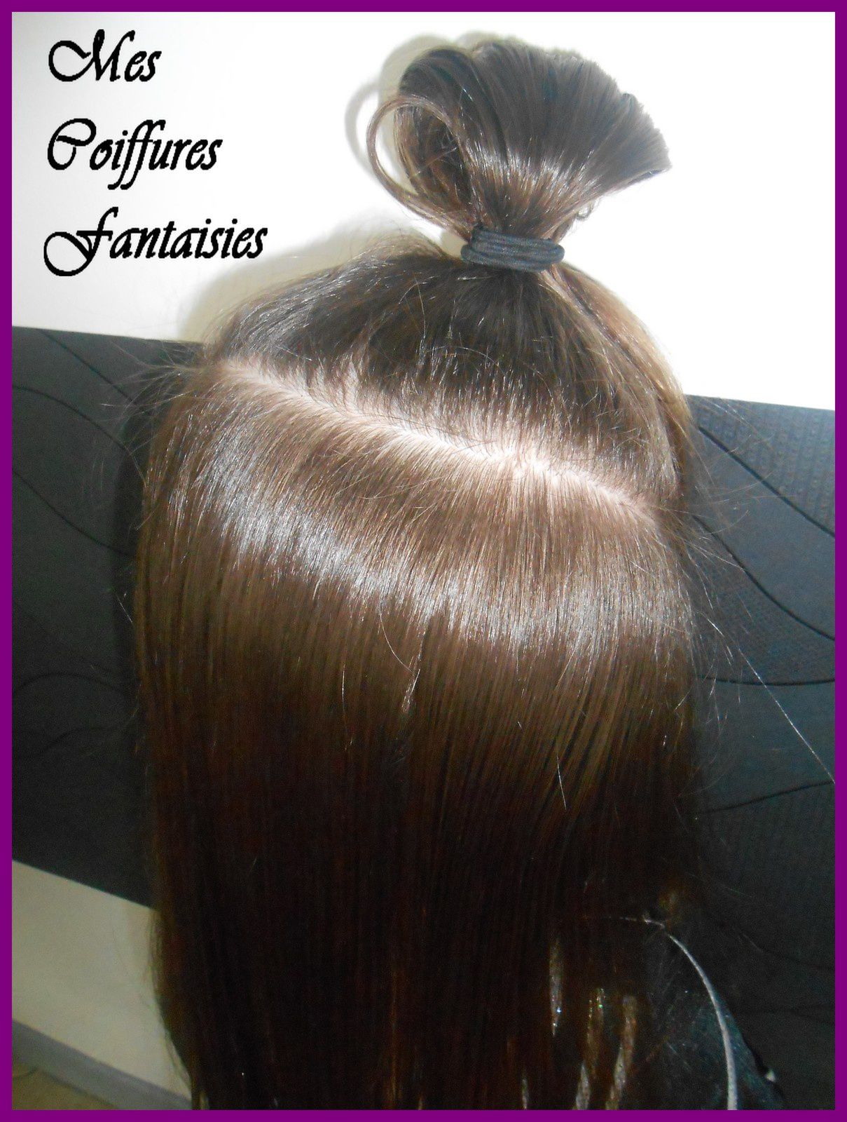 Chignon et nattes &quot&#x3B;up and down&quot&#x3B; !