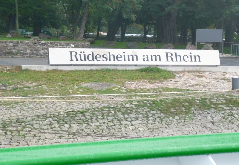 Rüdesheim, qu'on quitte le 28 septembre 2014