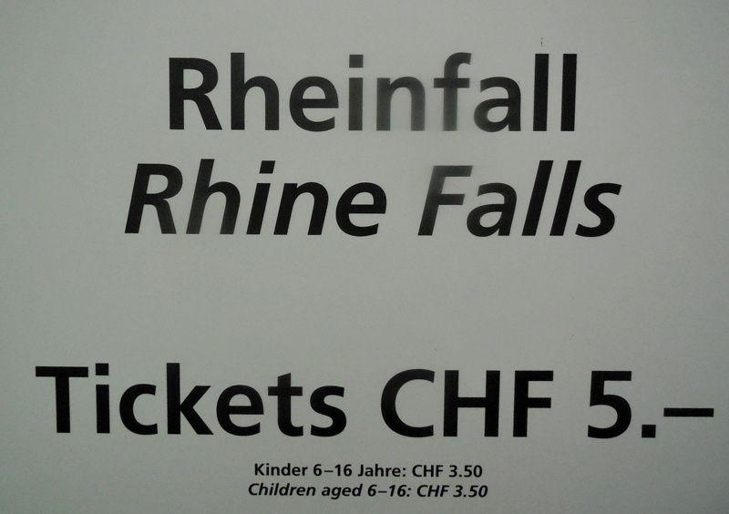 Entre le Lac de Constance et Bâle, les chutes du Rhin