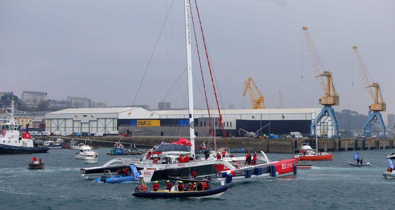 IDEC triomphe sur le Jules Verne le 24 janvier 2017