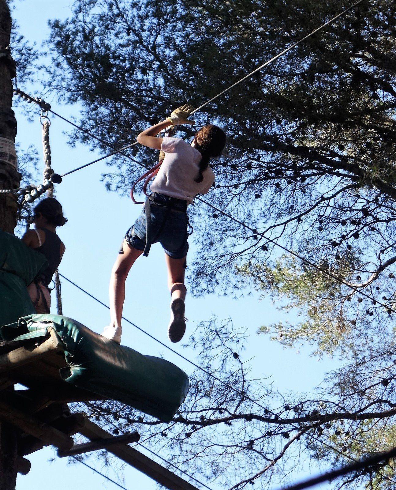 L'aventure au niveau de la canopée