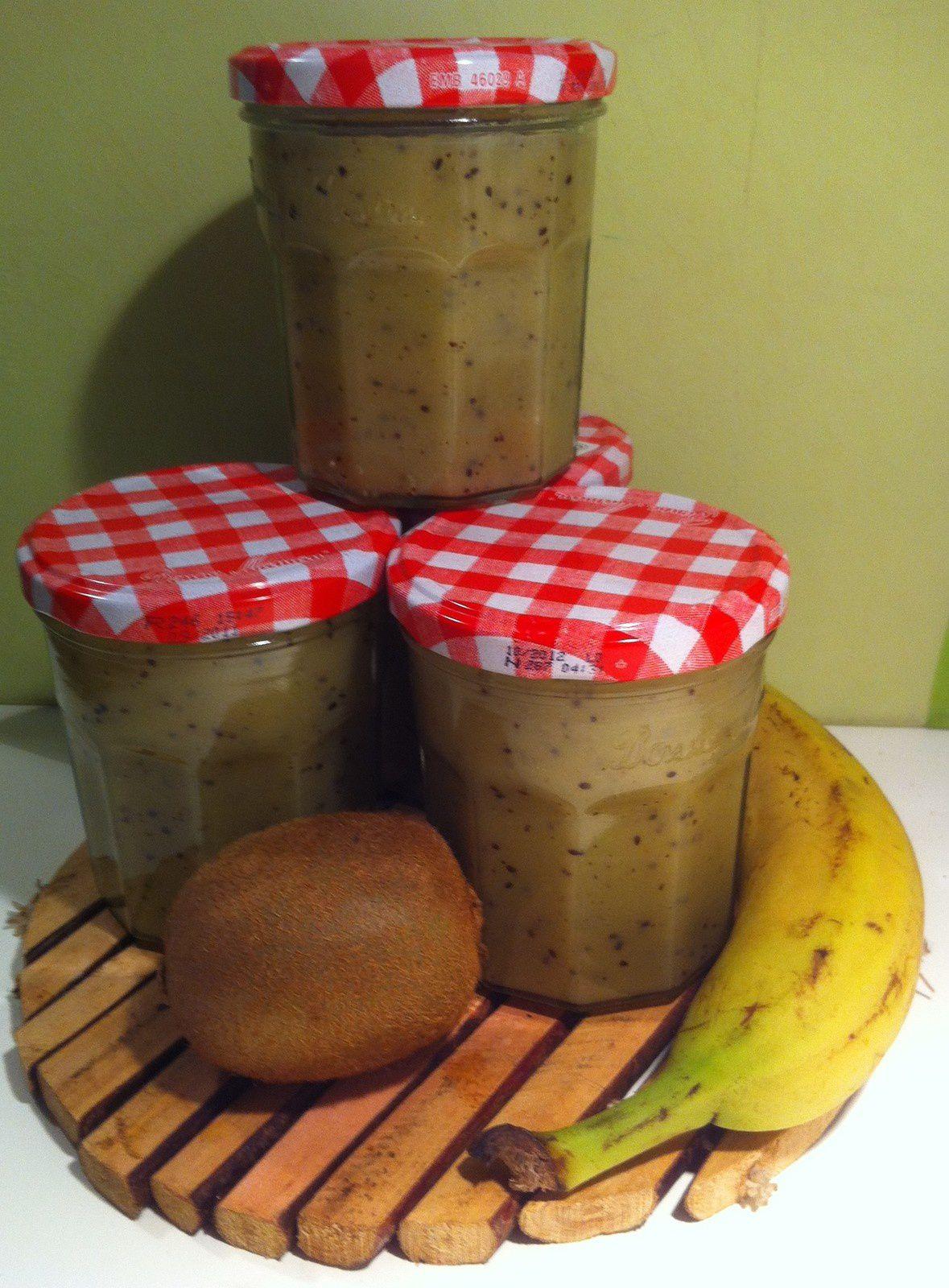 Confiture banane-Kiwi / Bananen-Kiwis-Marmelade