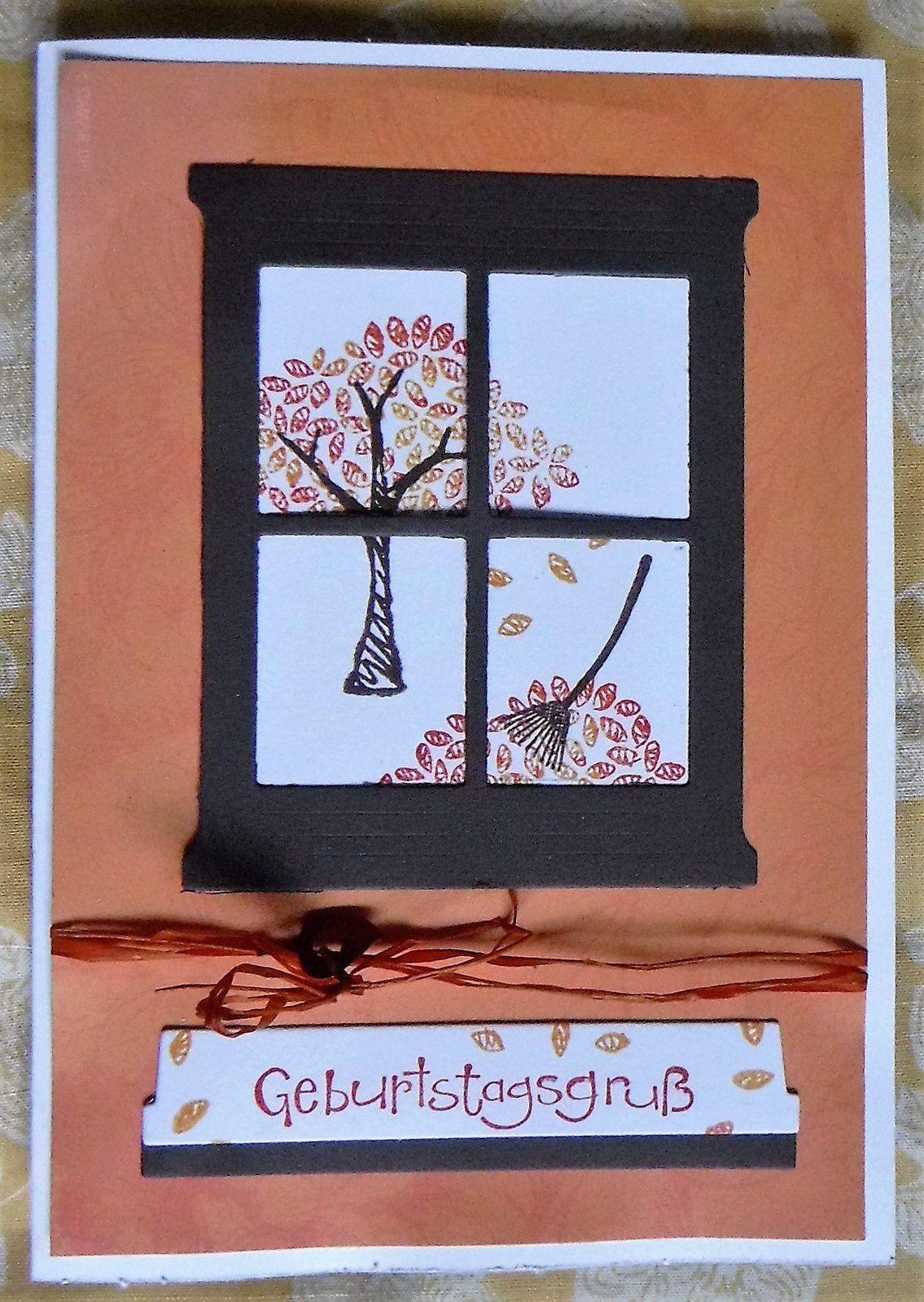 Carte anniversaire &quot&#x3B;fenêtre&quot&#x3B; / Geburtstagskarte &quot&#x3B;Fenster&quot&#x3B;