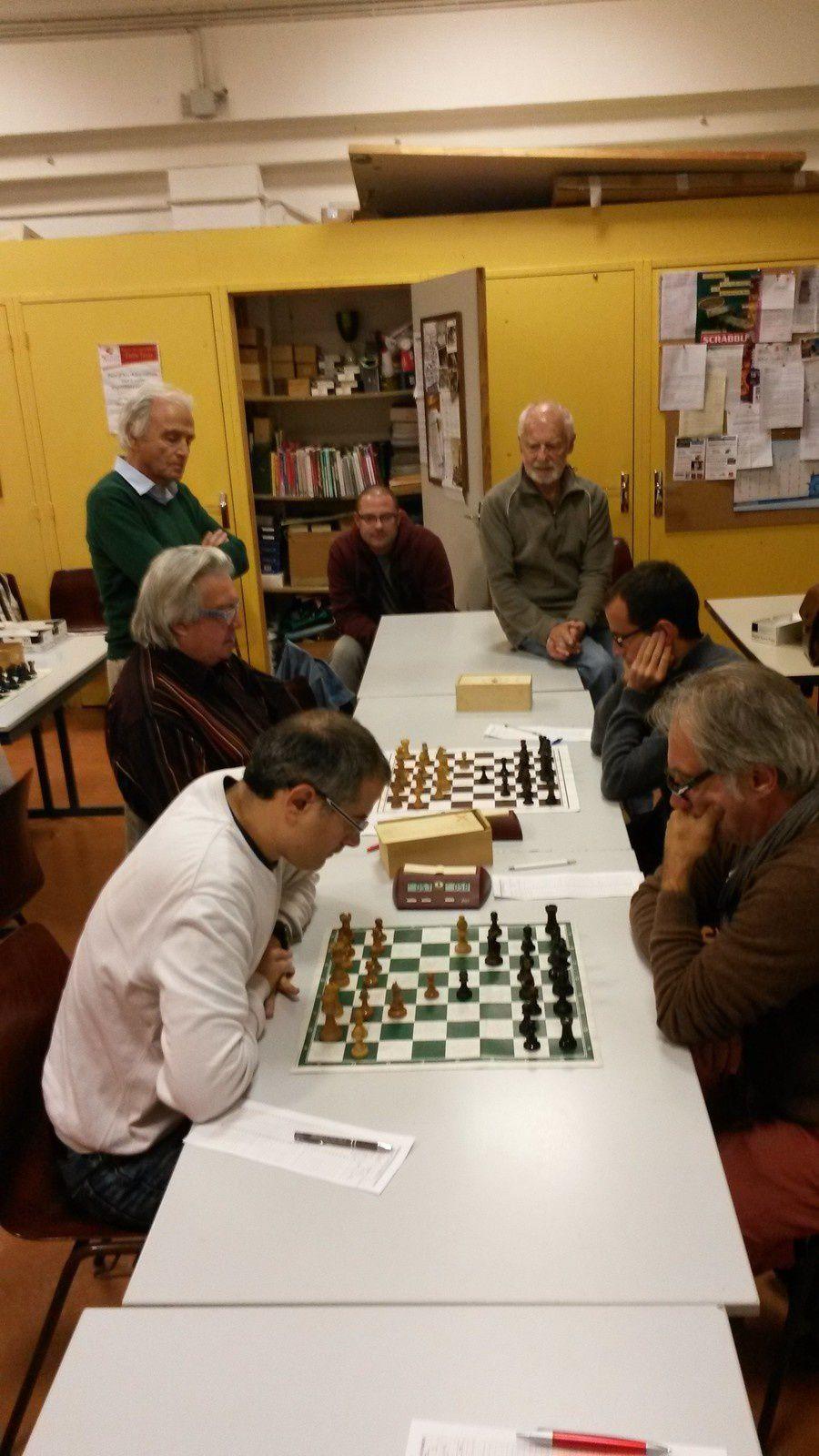 Laurent et Henri au premier plan, avec Michel et Bertrand au second