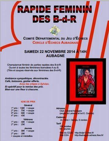Isabelle Mamah Championne des Bouches du Rhônes en Rapide