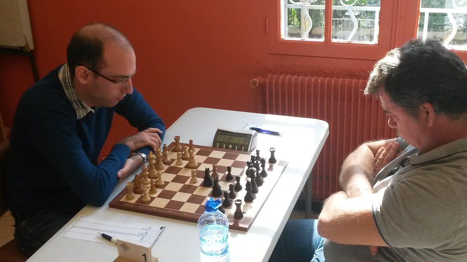 Fabien Forgues contre Philippe Langevin.