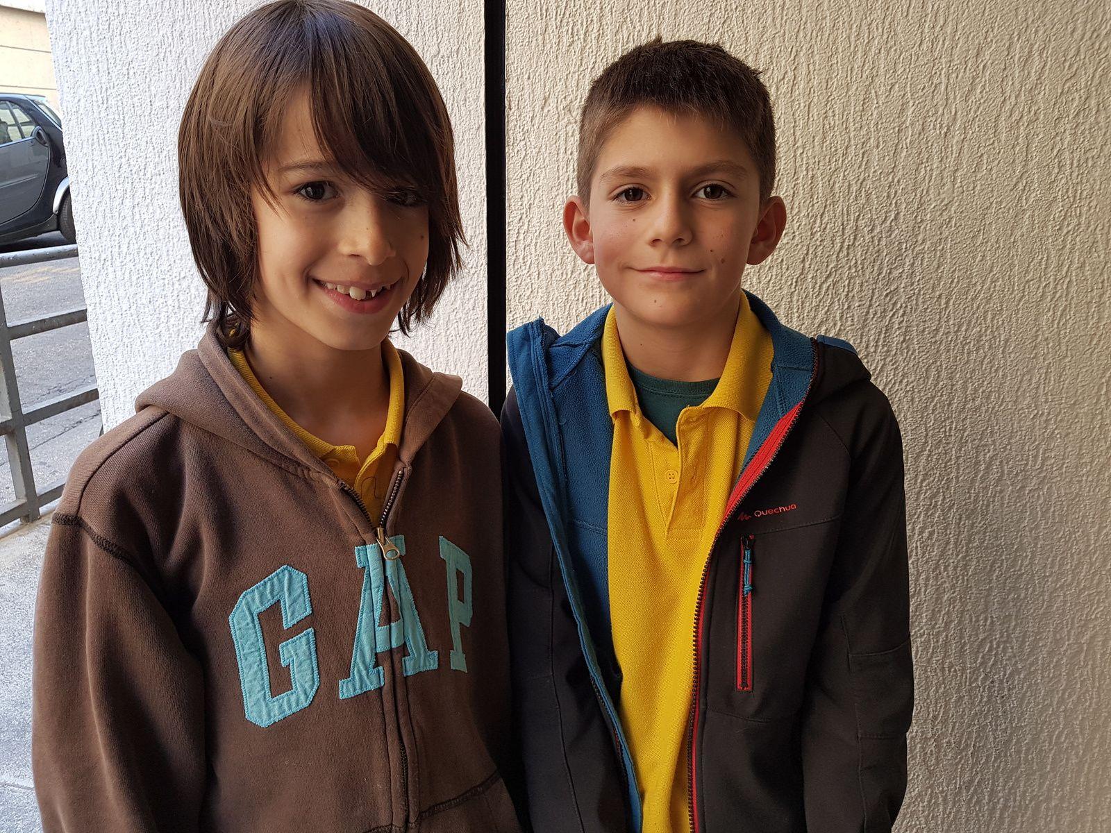 Nos 2 poussins Paul et Victor