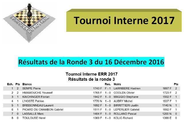 Tournoi Interne : Ronde 3