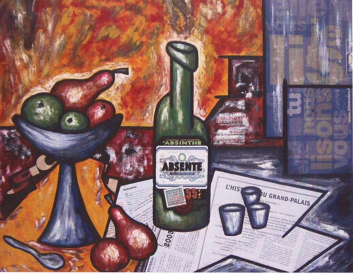 "Vincent Faglin, ""Nature morte à l'Absinthe"", Paris, 2003."