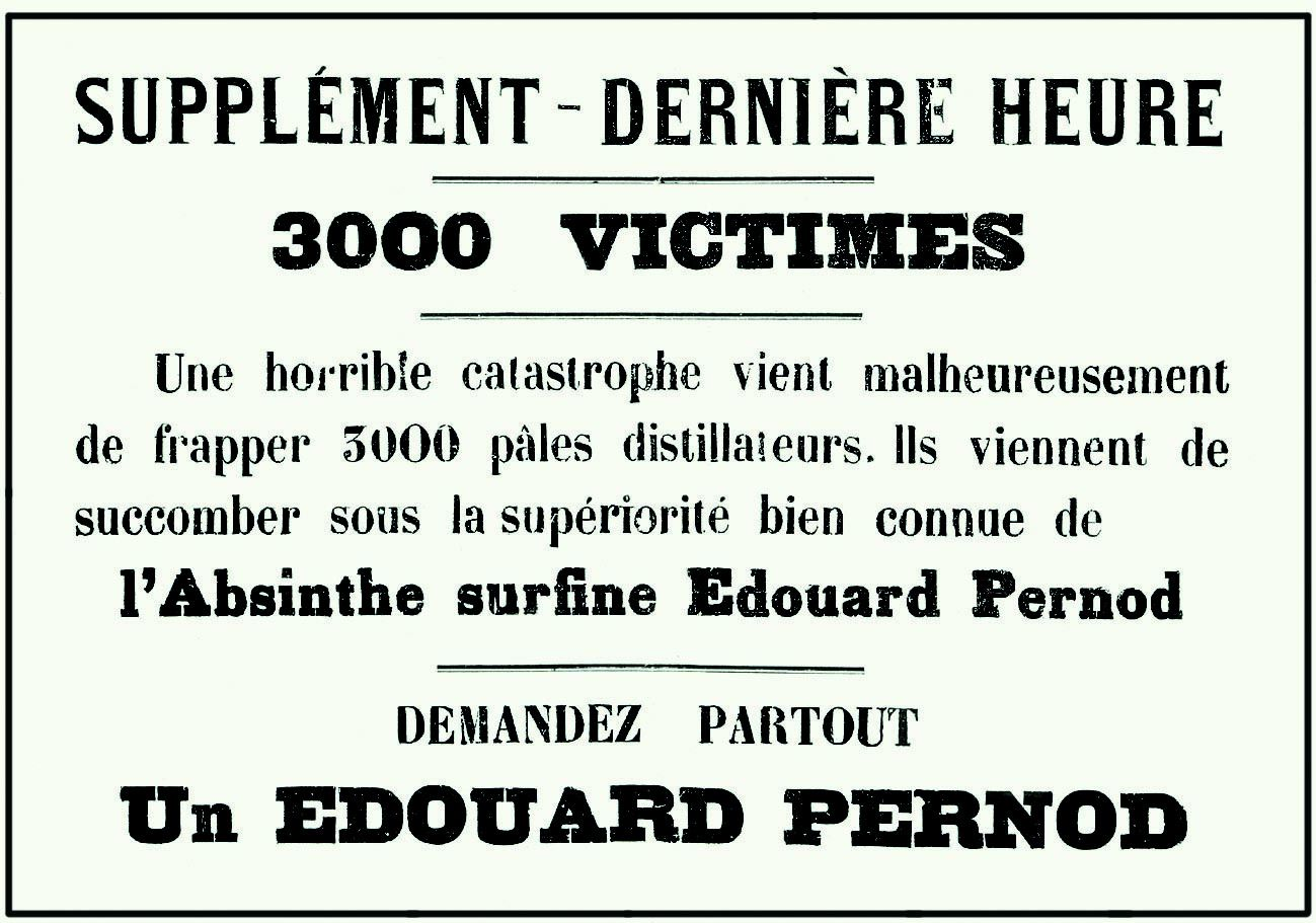 La marque Edouard Pernod passa aux mains de Hubert Bresson en 1912. Collection privée.