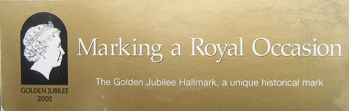 Cuillère en vermeil pour le jubilé d'or de la reine d'Angleterre en 2002.