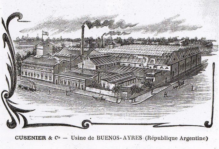 Dessins des usines Cusenier à Buenos-Aires et Montevideo. Collection Delahaye.