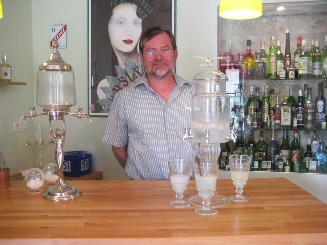 M. Olaf Schlichting, producteur de l'absinthe Ulex. Photo Delahaye.