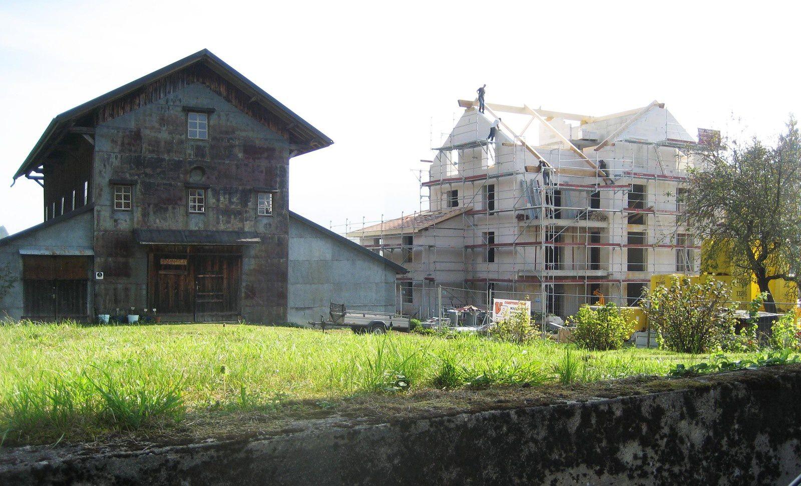 Le site du séchoir de Boveresse complètement massacré. Photos Delahaye