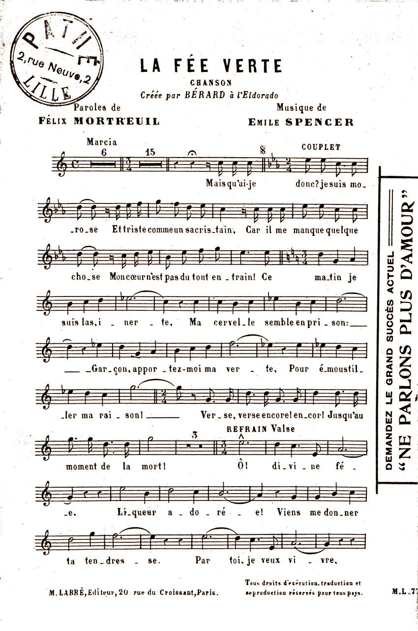 Paroles de F. Mortreuil et musique de E. Spencer. ©collection Delahaye.