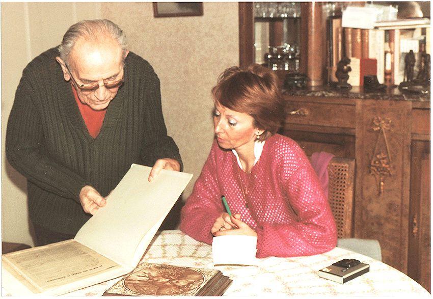 Avec Louis Martin en 1984. © Delahaye.