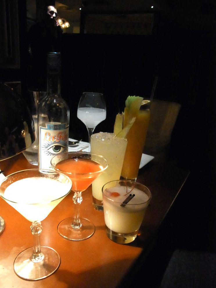 Cocktails réalisés par Dick Bradsell avec la Fée Blanche.