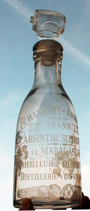 Carafe Hanhart-Esser munie de son bouchon. Collection Roussel.