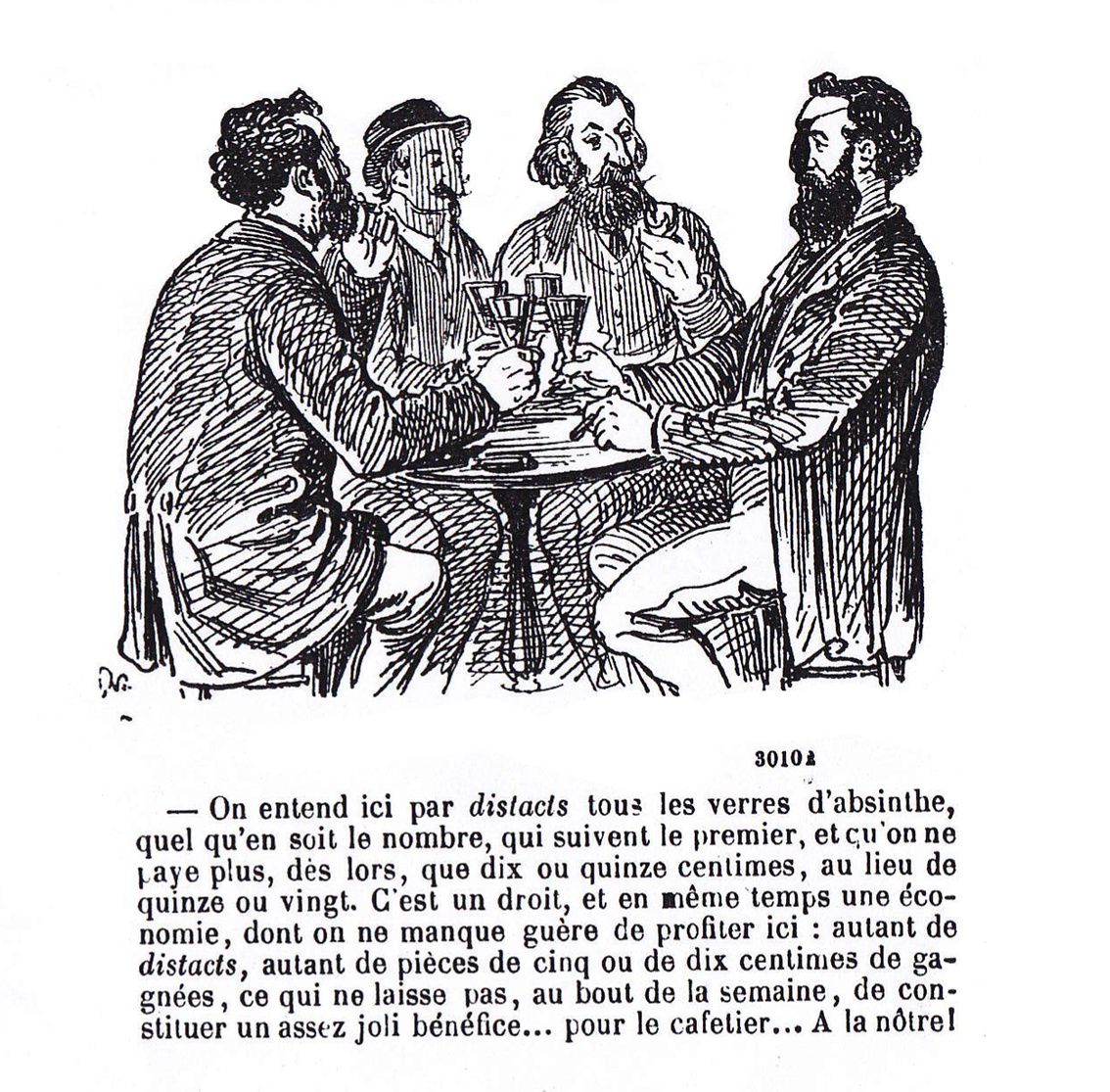 Dessin de Randon, faisant suite au premier. Journal Amusant, 1872. Collection Delahaye.