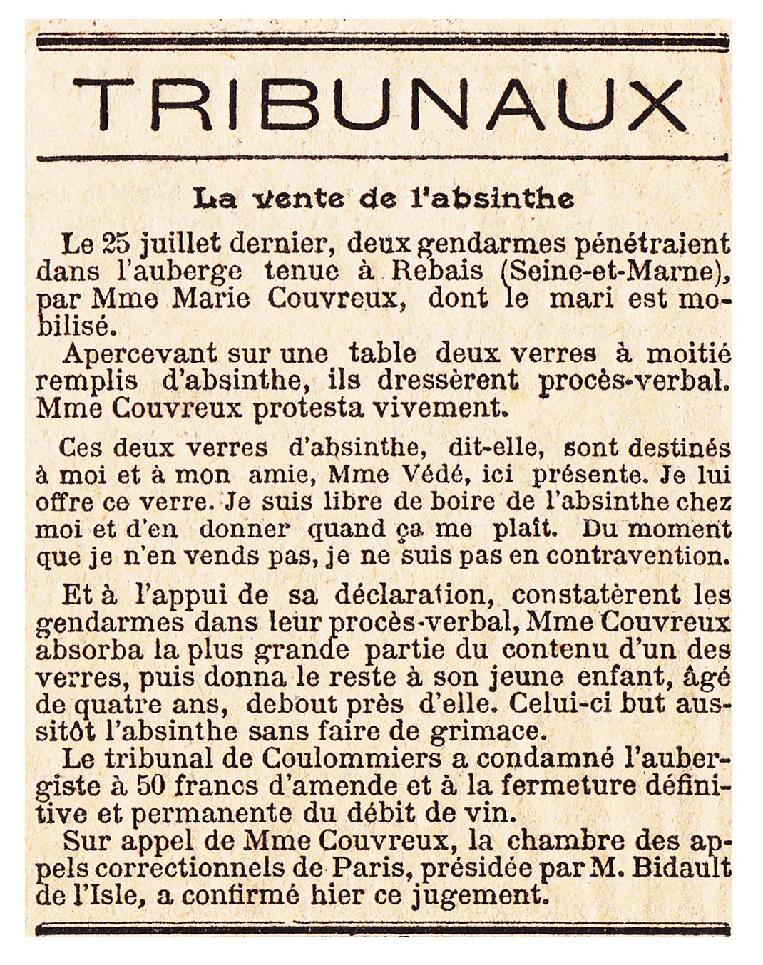 "Article paru dans ""Le Temps"" du 7 novembre 1915. Collection Delahaye."