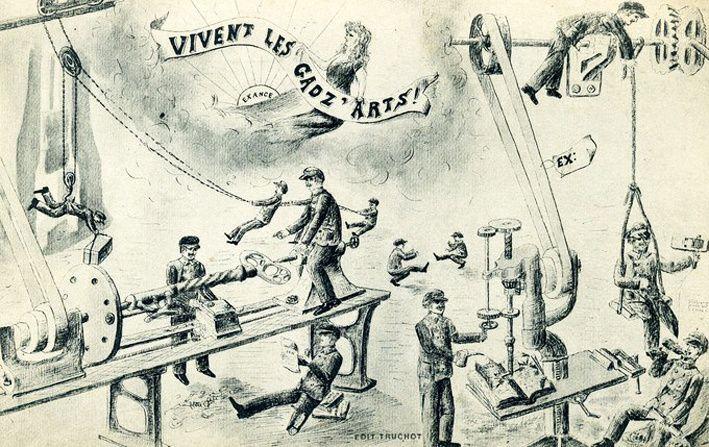 Cartes postales. Arts et métiers de Cluny, 1908. © Fonds C.B.