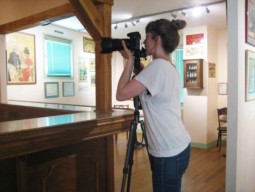 Céline, photographe, travaille surtout pour la presse américaine. Photo Delahaye