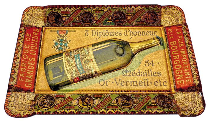 Publicité pour l'absinthe Mugnier. Collection Thuillier.