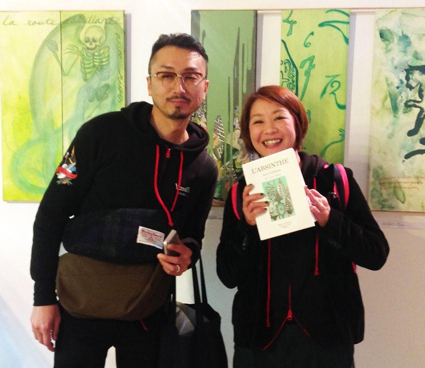 """Shinichirou (dit """"tschin"""") et Kaori du Japon. Photo Delahaye."""