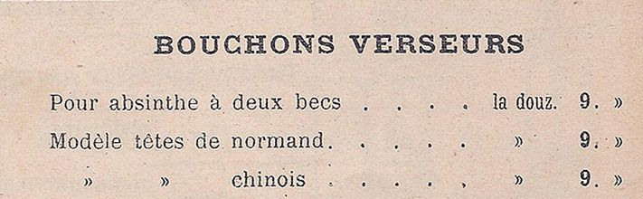 Catalogue Anthoine, 1901. Document collection Dieter.