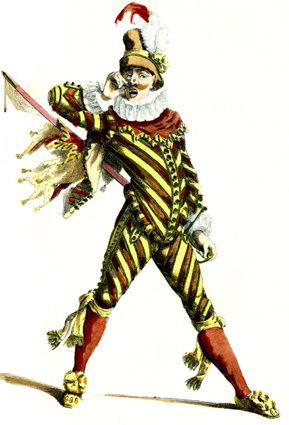 Le Capitan de la Commedia dell'Arte. Source Wikipedia.