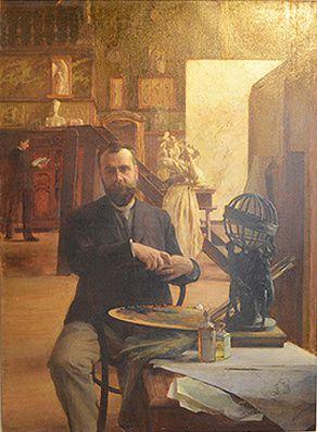 Portrait d'Albert Maignan par Émile Charles-Bitte, 1892. ©Frédéric Arnaud/Fondation Taylor.