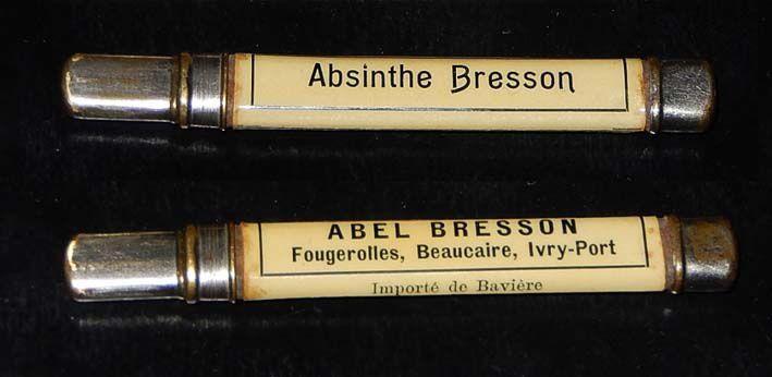 Porte-crayon, recto-verso, pour l'absinthe Bresson de Fougerolles. Collection et photo Ledoux.