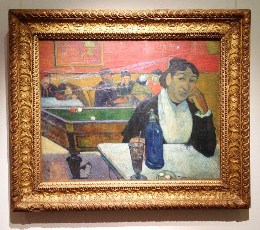 Paul Gauguin. Café à Arles, 1888. Ph. Delahaye.