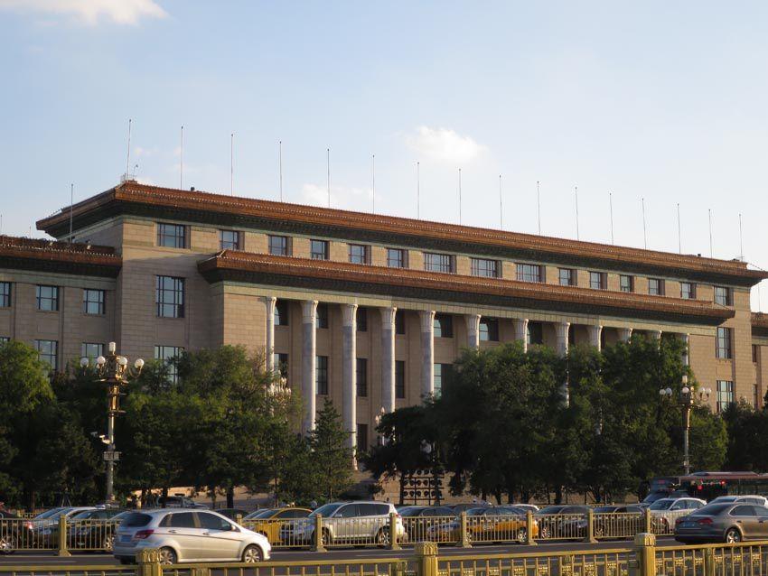 Le Palais de l'Assemblée du Peuple. Ph. Delahaye.