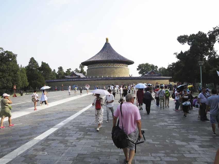 La Demeure du Seigneur du Ciel ceint du Mur de l'Écho. À l'intérieur et de chaque côté, les bâtiments Yin et Yang. Ph. Delahaye.
