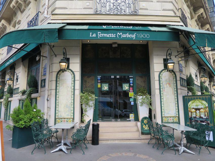 La Fermette Marbeuf, 5 rue Marbeuf 75008 Paris. Métro Alma-Marceau. Ph. Delahaye.