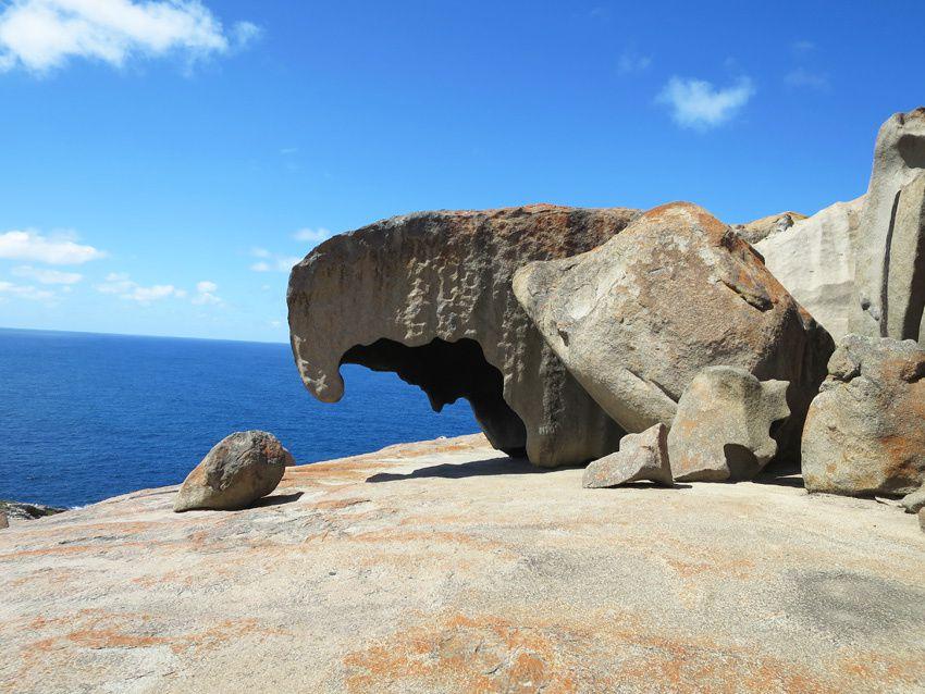 Quelques-uns des blocs remarquables en granite. Ph. Delahaye.