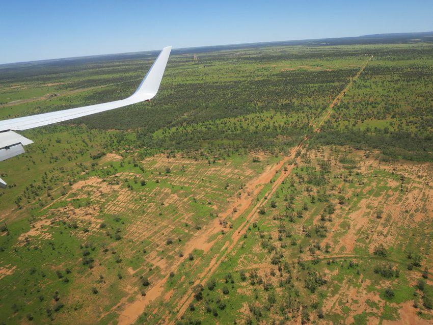 Arrivée sur Alice Springs. Ph. Delahaye.